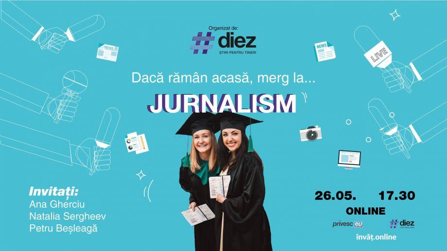 (live) Urmărește online evenimentul #diez de orientare în carieră despre Jurnalism