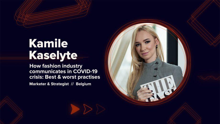 Rockit Conference 2020: Kamile Kaselyte, despre comunicarea în industria modei în perioada pandemiei