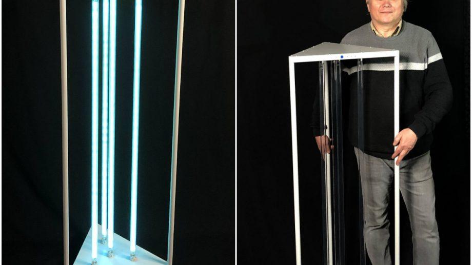(foto, video) O familie din Moldova, Andrei și Svetlana Faina, a creat prima instalație mobilă de igienizare cu UVC din țară