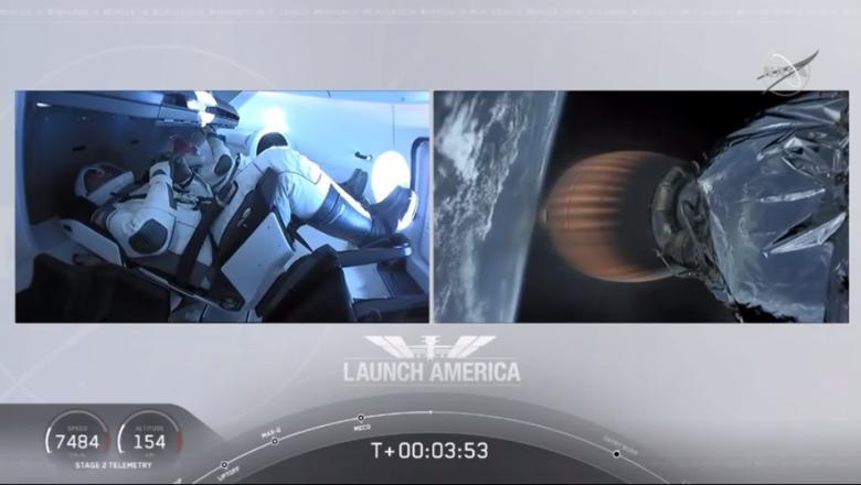 (video) SpaceX și NASA au lansat capsula Crew Dragon cu echipaj uman către Stația Spațială Internațională