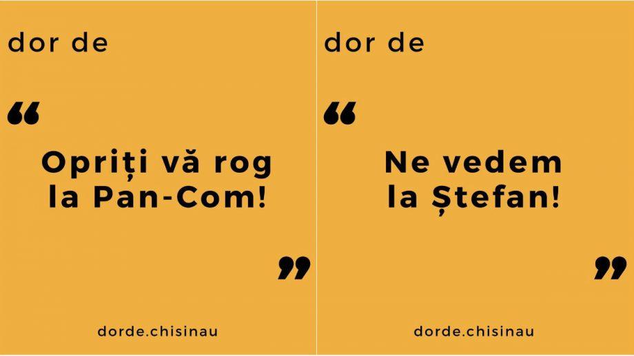 """Dor de """"Opriți, vă rog, la Pan-Com"""". Doi tineri din Moldova au creat o pagină de Instagram unde spun de ce le e dor de Chișinău"""