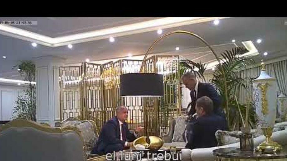 (video) Procuratura Generală va investiga imaginile video cu punga cu bani pe care Plahotniuc i-ar fi transmis-o lui Dodon