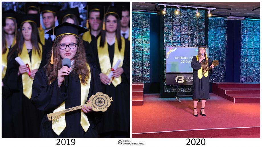 (foto) Cum arată festivitățile Liceului Moldo-Finlandez înainte și după COVID-19