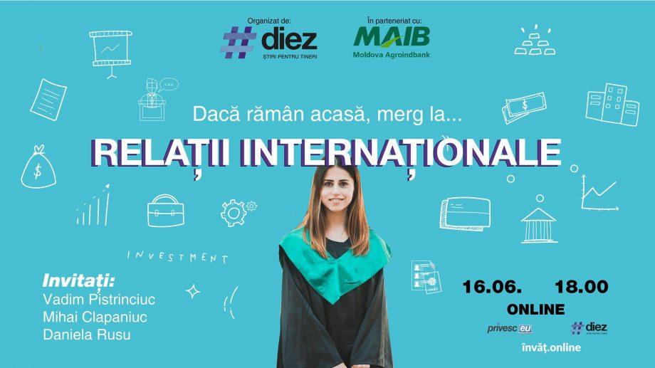 Vrei să afli cum îți poți construi o carieră dacă studiezi Relații Internaționale? Conectează-te online la evenimentul #diez
