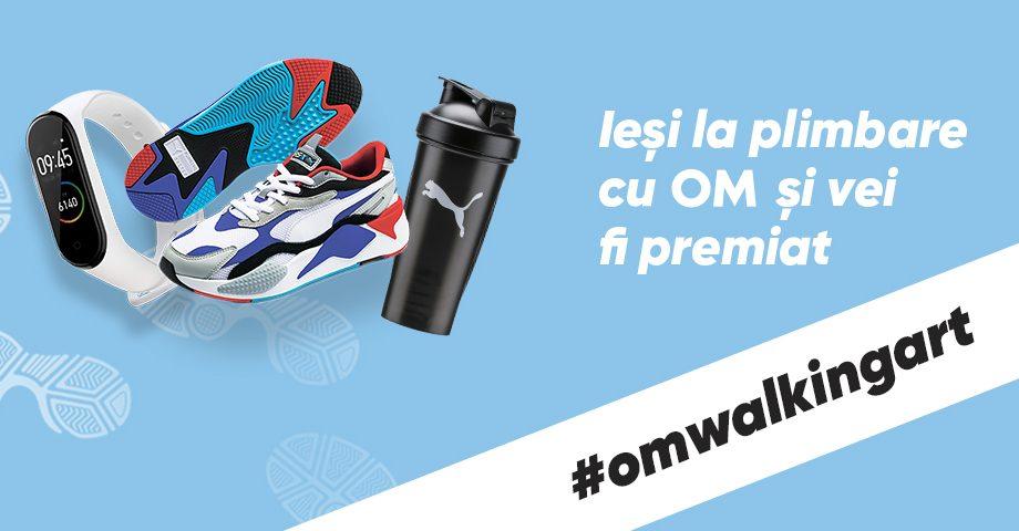 #OMWalkingArt – Brandul de apă potabilă OM a lansat o campanie cu premii valoroase