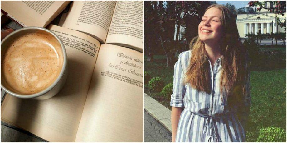 """(foto) """"Mirosul şi finețea unei cărți ținută în palme este ca un drog."""" Tatiana Zaharia, o tânără elevă din Chișinău, spune despre pasiunea pentru lectură"""