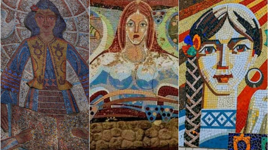(foto) Moldova în piese de mozaic. Cum au văzut femeia artiștii din secolul trecut