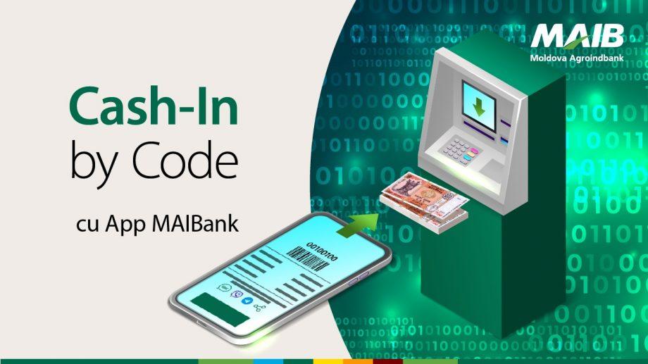 Nou de la Moldova Agroindbank: Serviciul Cash-In by Code