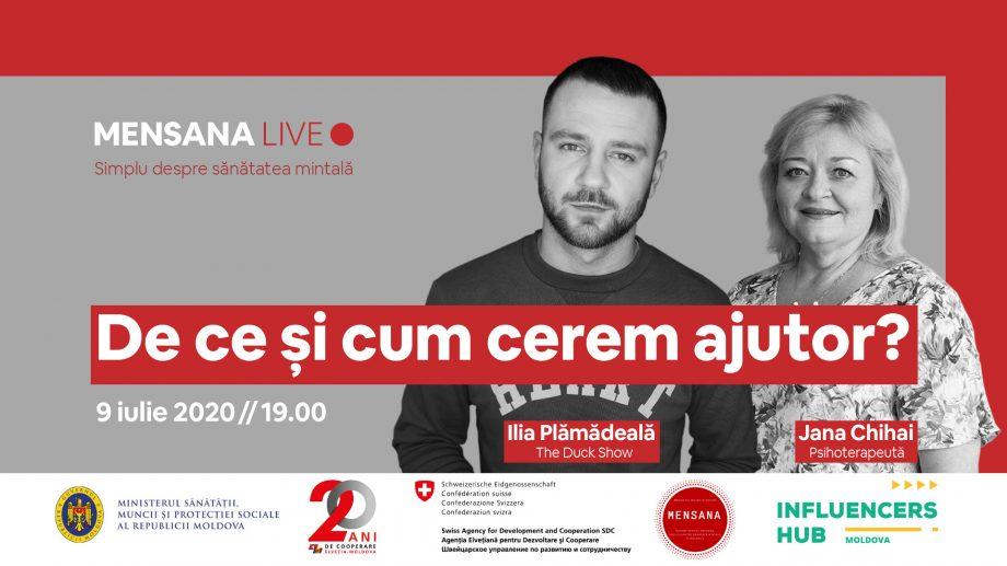 MENSANA Live. Simplu despre sănătatea mintală cu Ilia Plămădeală