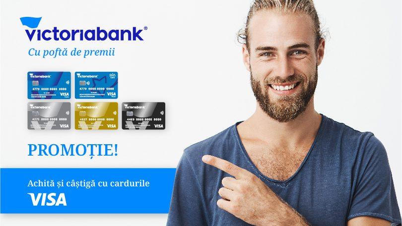 Câștigă premii multiplicate la 5 sau chiar la 10 cu Visa de la Victoriabank