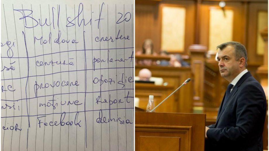 Catastiful zilei: Moțiunea de cenzură n-a trecut. Cum politicienii și internauții din Moldova au comentat acest lucru