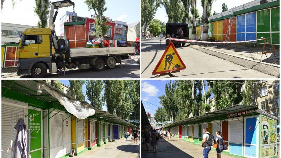 (foto) 30 de gherete de lângă Piața Centrală vor fi evacuate. Agentul economic va achita cheltuielile pentru lucrări