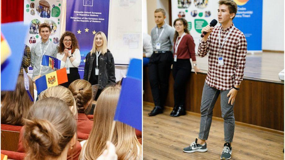 """(foto) """"Inițiativa Tinerilor Ambasadori Europeni e despre patru ani de implicare."""" Marius Balan povesteşte despre experienţa sa"""