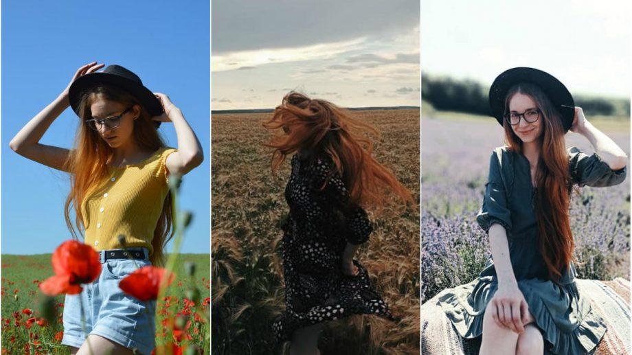 (foto) Tânăra din Moldova care a fost în (aproape) toate lanurile cu flori și plante populare pe Instagram în vara 2020