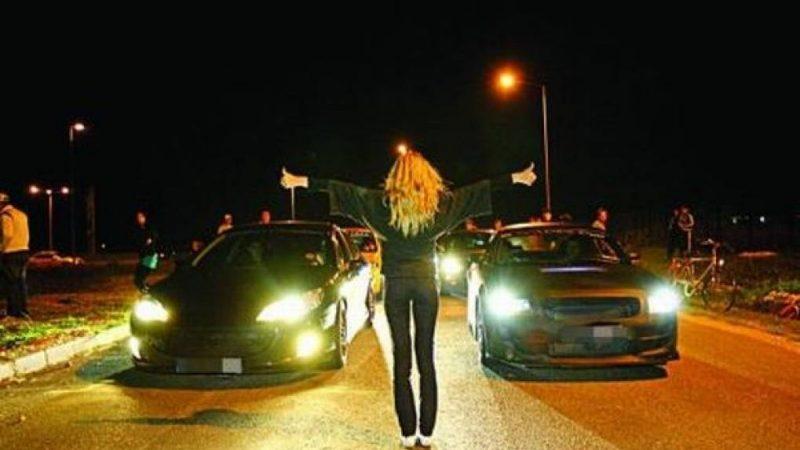 Amenzi de până la 75 000 de lei sau închisoare de până la doi ani pentru participarea la cursele auto ilegale
