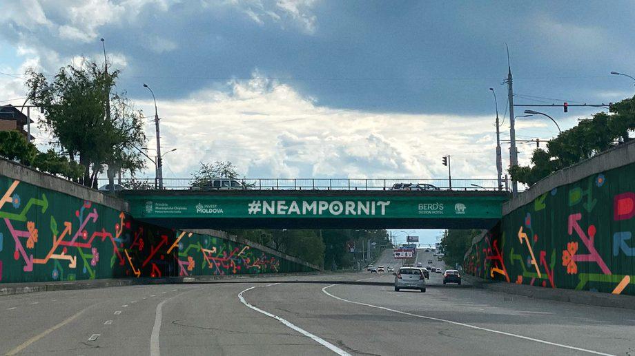 Podul de la Telecentru va fi pictat în culorile și simbolurile brandului turistic național