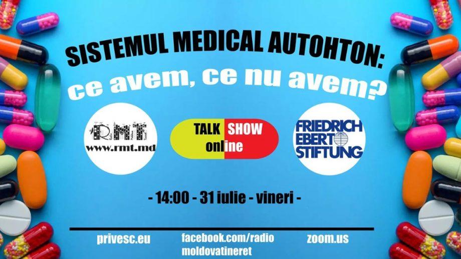 """Radio Moldova Tineret organizează o nouă dezbatere publică online pe tema """"Sistemul medical autohton: ce avem, ce nu avem?"""""""