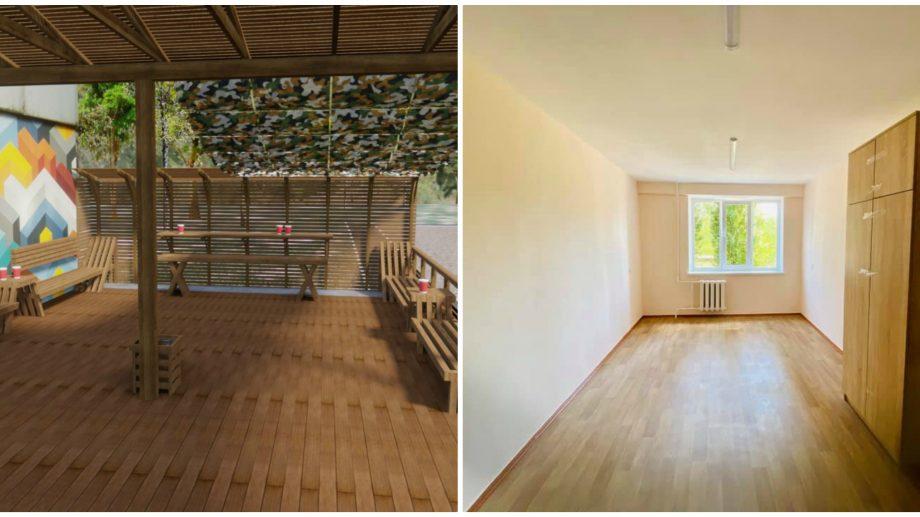 (foto) Studenții de la UTM se vor bucura la început de an de un cămin renovat și o nouă terasă