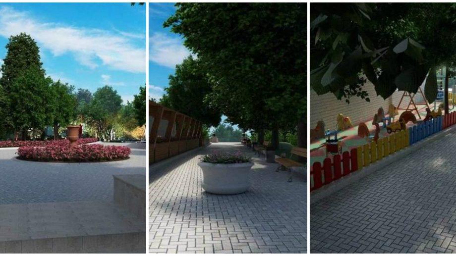 (foto) Cum va arăta noul scuar de la intrarea din parcul Valea Morilor. Lucrările de construcție au început astăzi