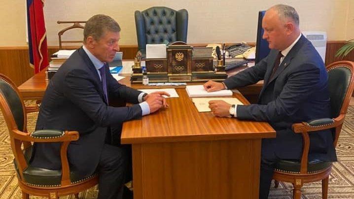 (foto) Igor Dodon a avut o întrevedere cu Dmitri Kozak la Moscova. Ce subiecte au discutat
