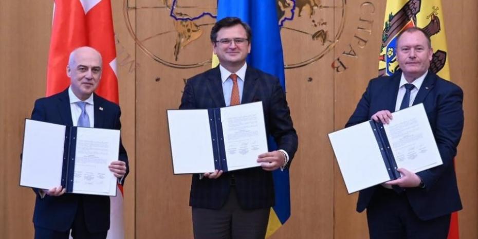 Moldova, Georgia și Ucraina au semnat un memorandum privind cooperarea în domeniul integrării europene